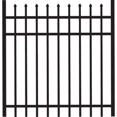 Cascade 4 ft. W x 4 ft. H Black Heavy-Duty Aluminum Straight Pre-Assembled Fence Gate