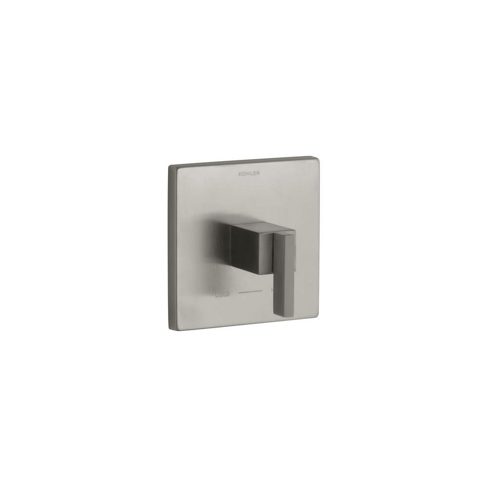 KOHLER Loure 3.75 in. x 6-5/16 in. Thermostatic Valve Trim in Nickel