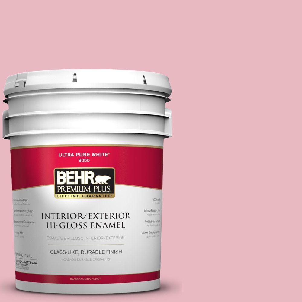 BEHR Premium Plus 5-gal. #M150-2 Peppermint Stick Hi-Gloss Enamel Interior/Exterior Paint