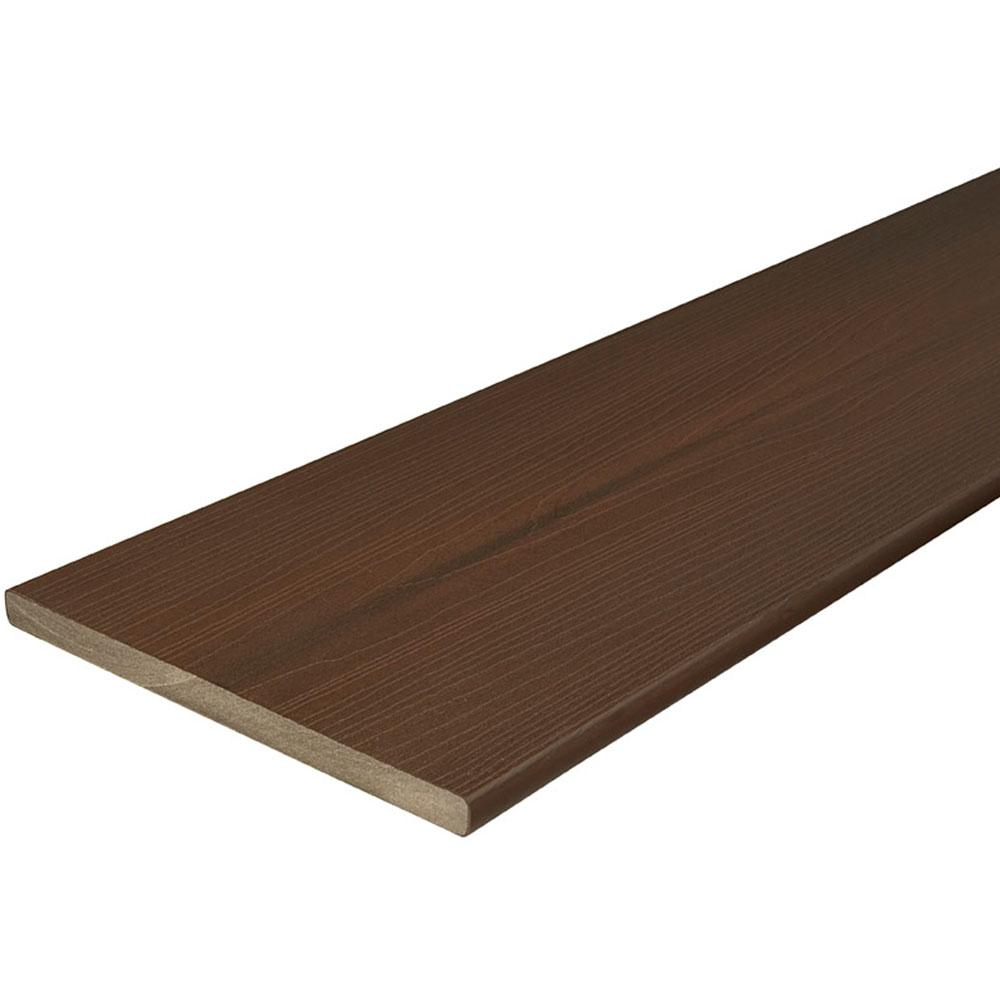 Veranda ArmorGuard 3/4 in. x 11-1/4 in. x 8 ft. Brazilian Walnut Capped Composite Fascia Decking Board