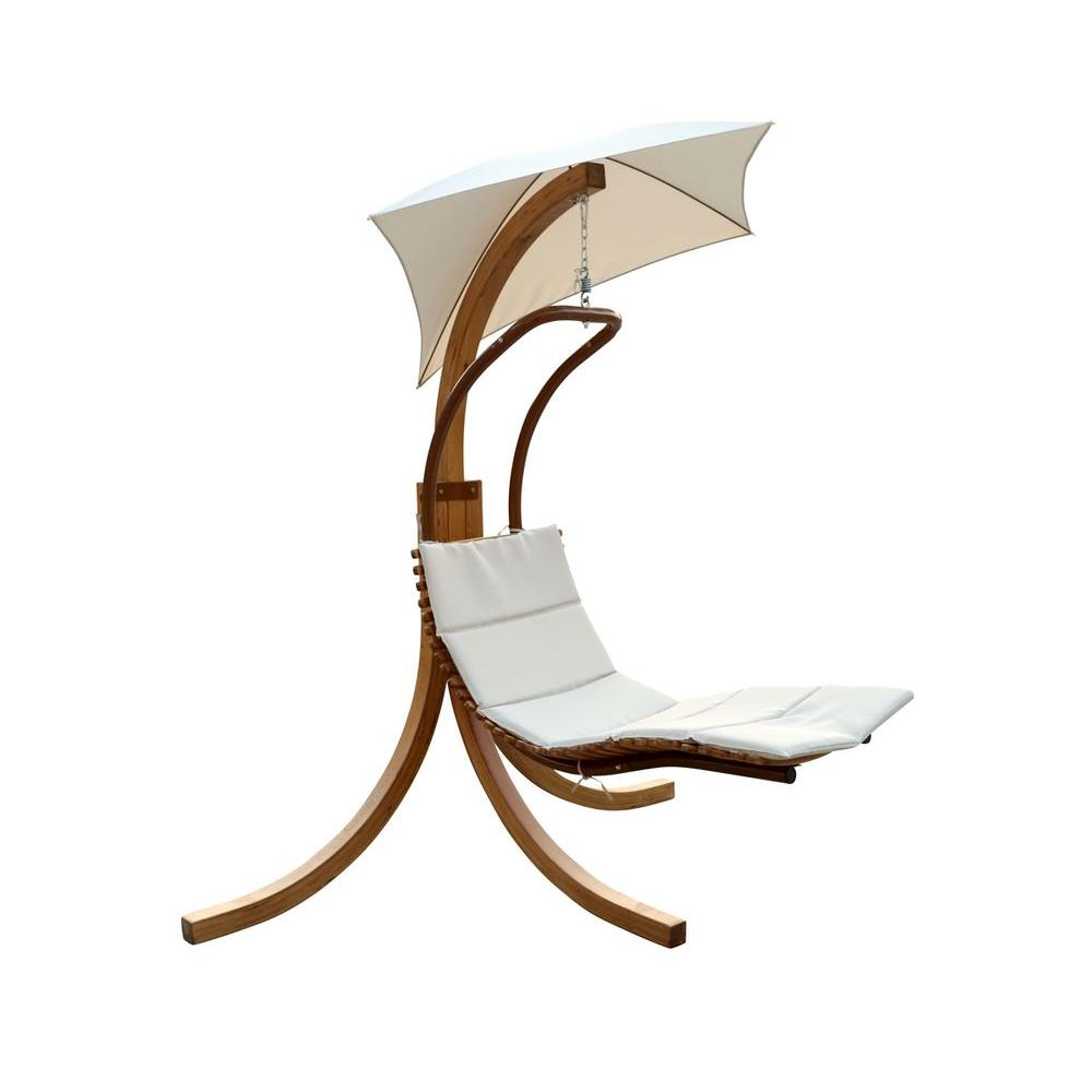 Leisure Season Patio Swing Lounge Chair With Umbrella SLU135   The Home  Depot