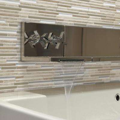 Capri Taupe 9.88 in. W x 9.70 in. H Peel and Stick Decorative Mosaic Wall Tile Backsplash