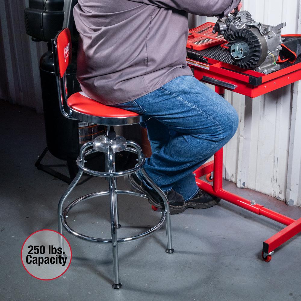 Chrome 8516 SUNEX TOOLS Sunex Hydraulic Shop Stool