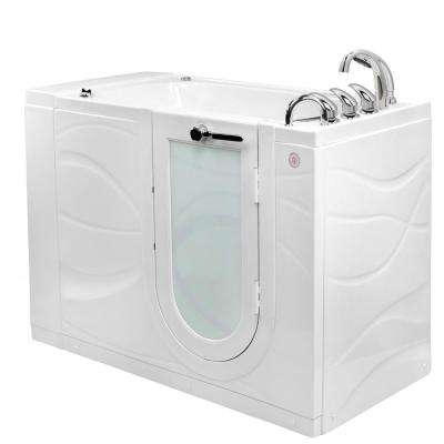 Chi 52 in. Walk-In Whirlpool/Air Bath Bathtub in White, RHS Outward Swing Door, Digital, Heated Seat, RHS Dual Drain