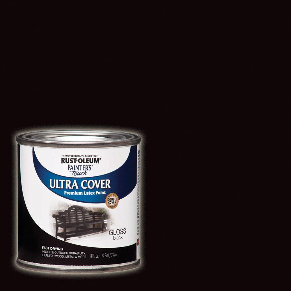 Rust-Oleum Painter\'s Touch 32 oz. Ultra Cover Semi-Gloss Black ...