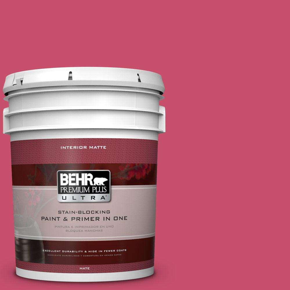 BEHR Premium Plus Ultra 5 gal. #120B-7 Tropical Smoothie Flat/Matte Interior Paint