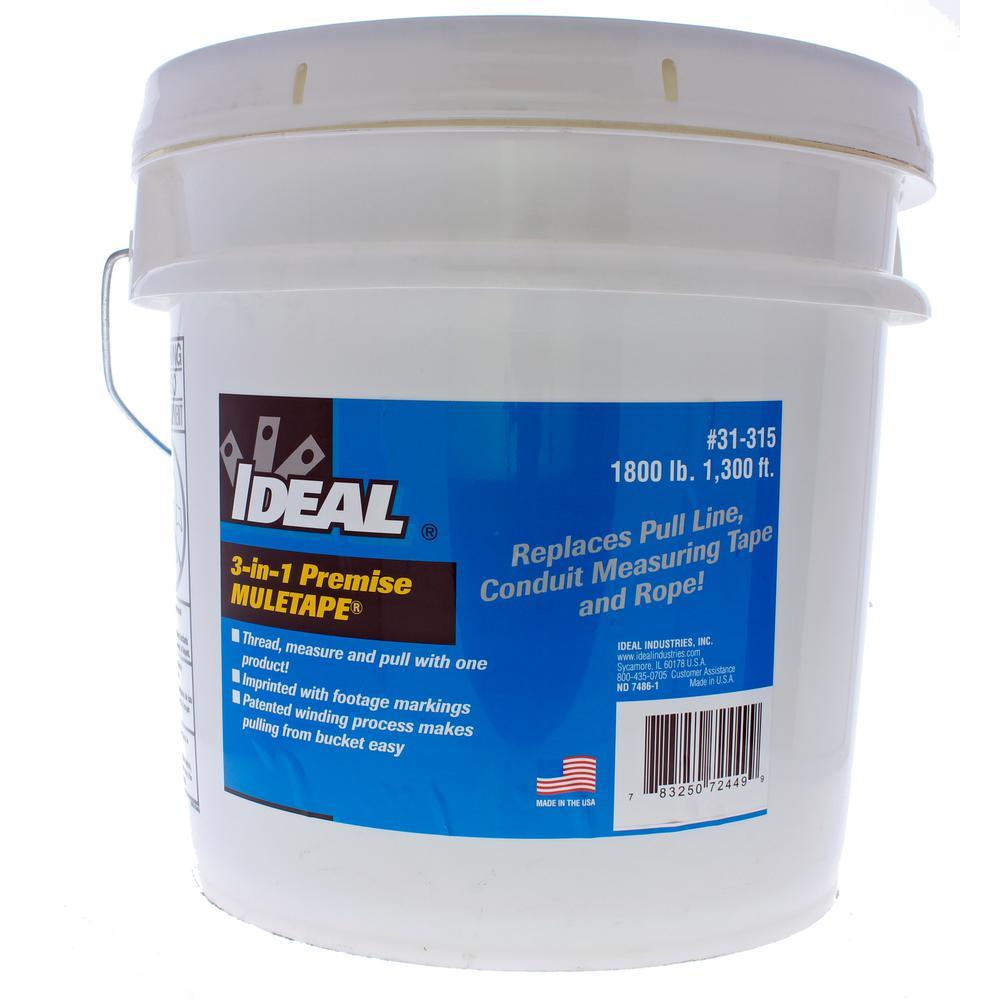 Ideal 1 2 In X 1 300 Ft Premise Muletape 1 800 Lb
