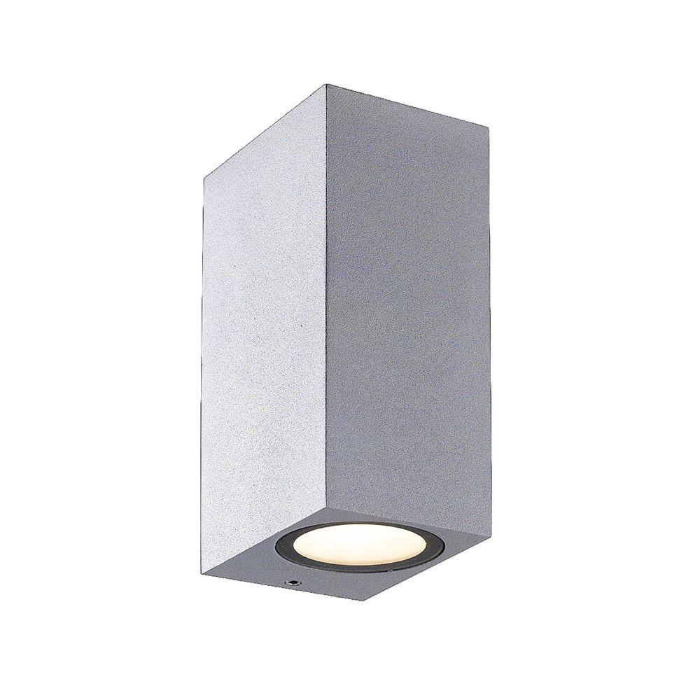 Eurofase Dale Collection 2 Light Marine Grey Outdoor Wall Lantern Sconce