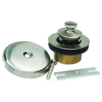 Lift & Turn Drain Kit with One Hole Faceplate, 1.5 in. IPS Coarse Thread, Bracket and Screw in Satin Nickel