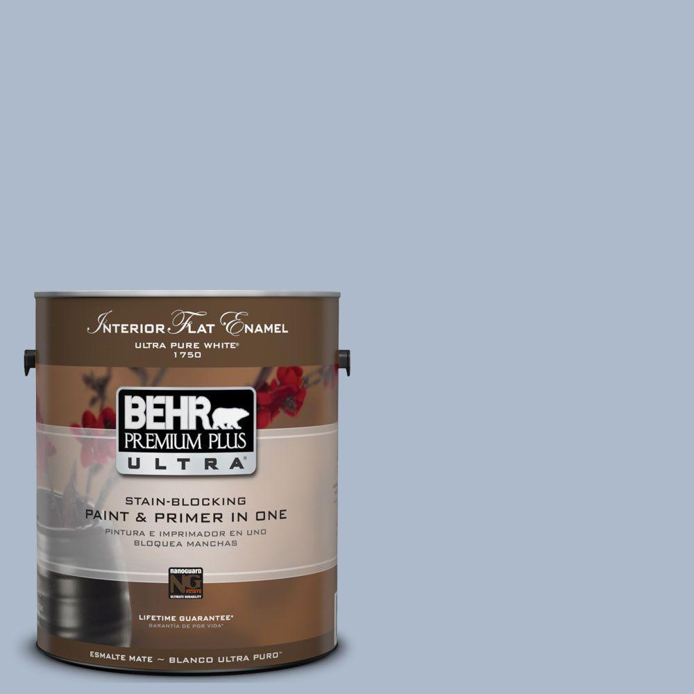BEHR Premium Plus Ultra 1-Gal. #UL240-15 Simply Blue Interior Flat Enamel Paint