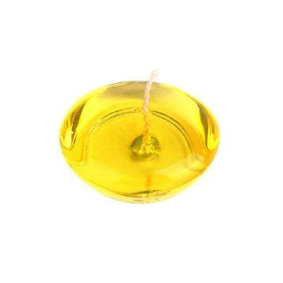 3 in. Clear Yellow Gel Floating Candles (6-Box)