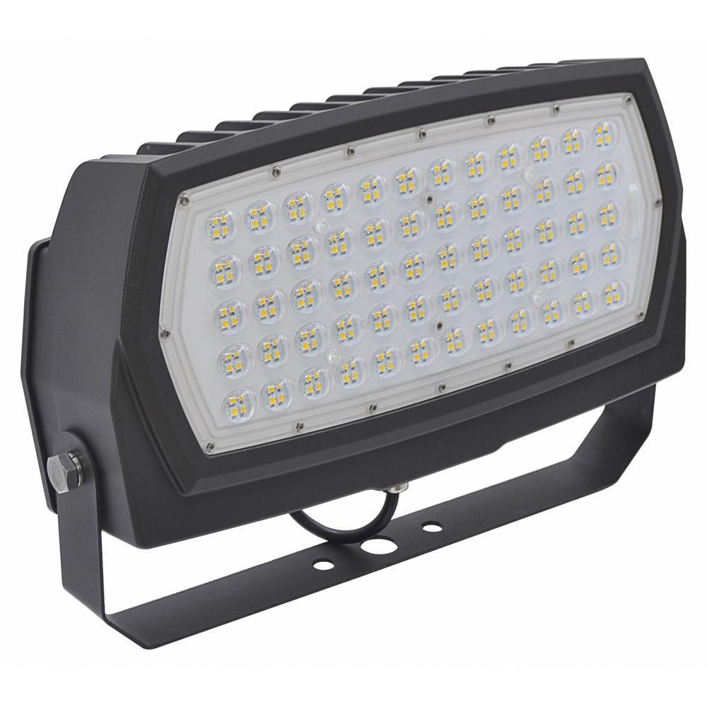 250-Watt Equivalent 90-Watt Bronze Outdoor Integrated LED Medium Landscape Flood Light 120-277V Yoke Cool White 99680