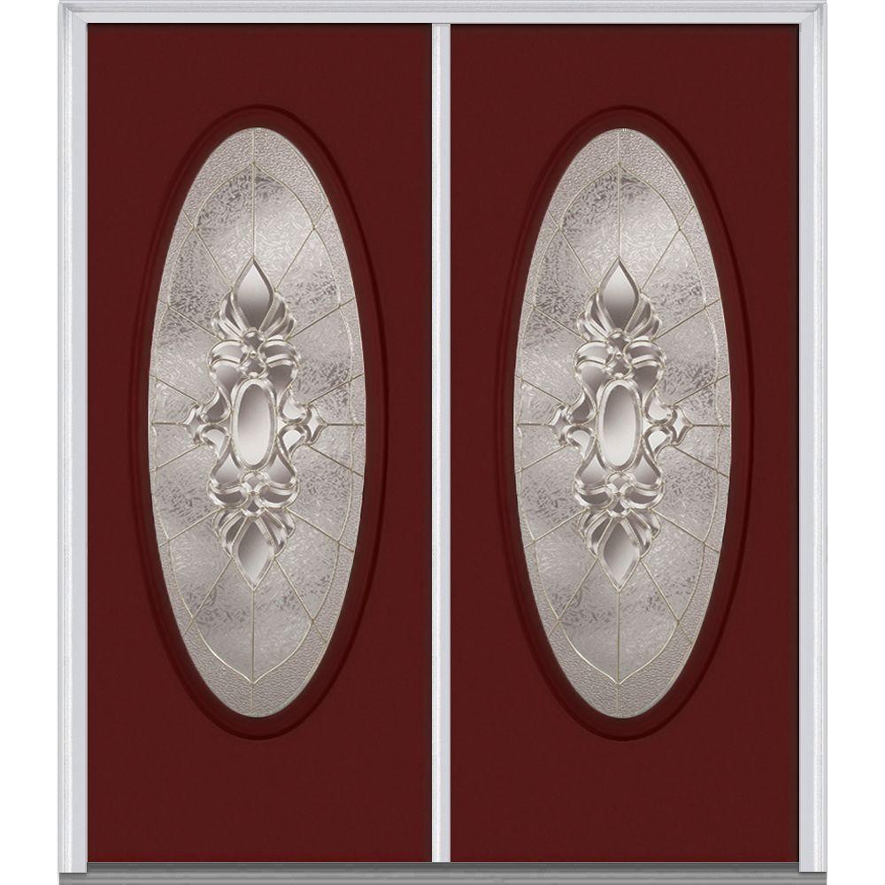Mmi Door 60 In X 80 In Heirloom Master Left Hand Inswing Oval Lite