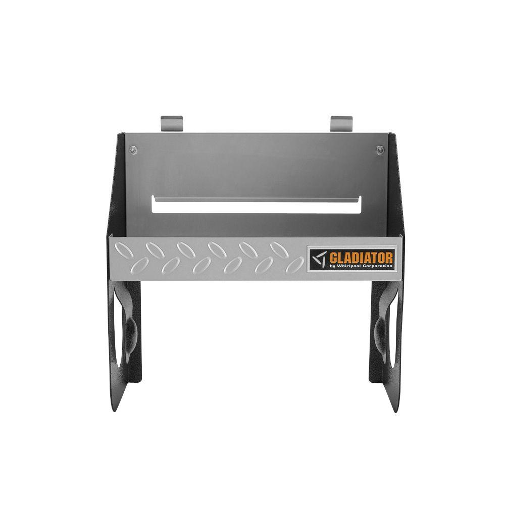 Gladiator 12 in. W x 6.5 in. D Silver Tread Plate Steel Clean-Up Caddy Garage Storage for GearTrack or GearWall