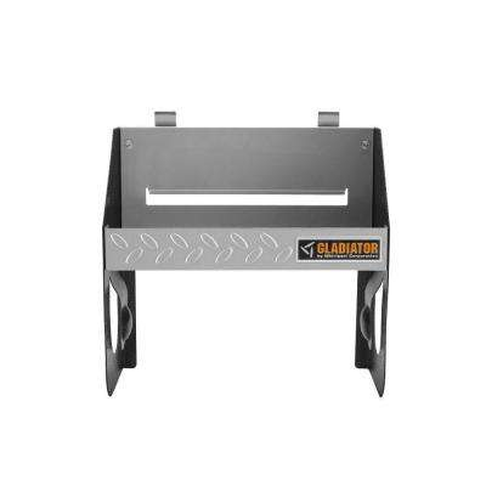 12 in. W x 6.5 in. D Silver Tread Plate Steel Clean-Up Caddy Garage Storage for GearTrack or GearWall