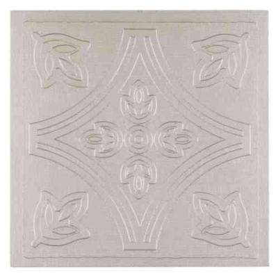 Vinyl 4 in. x 4 in. Self-Sticking Wall/Decorative Wall Tile in Silver (27 Tiles/Box)
