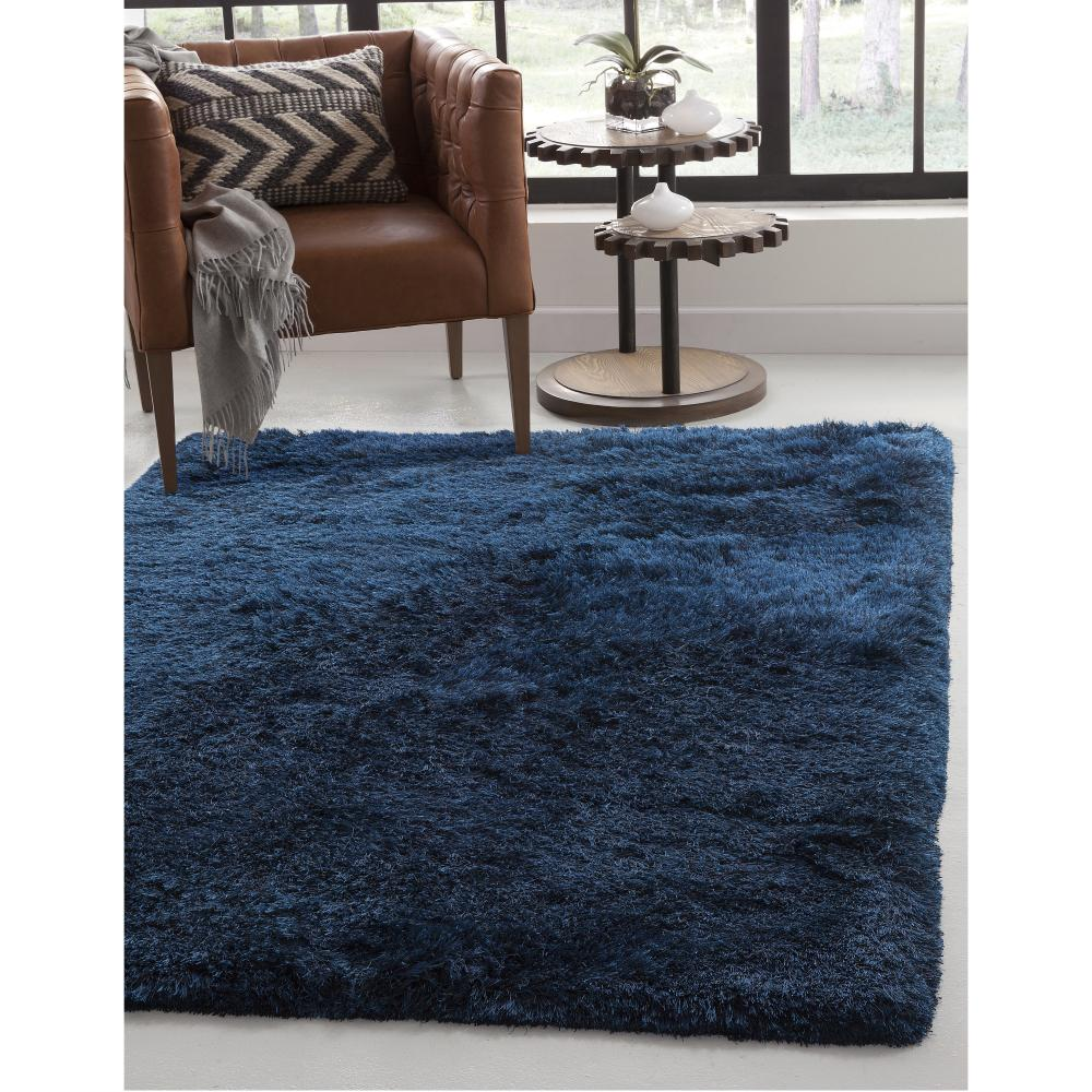 Luxe Shag Blue 5 ft. x 8 ft. Area Rug
