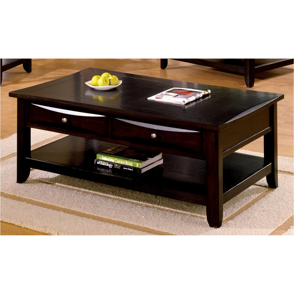 Superior Furniture Of America Baldwin Espresso Coffee Table
