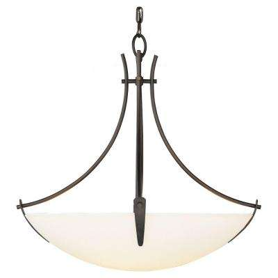 Boulevard 23.75 in. W 3-Light Oil Rubbed Bronze Uplight Chandelier