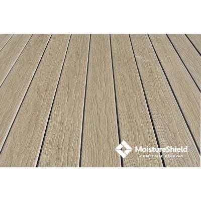 Vision 1 in. x 5.4 in. x 12 ft. CoolDeck Mochaccino Composite Groove Decking Board (10-pack)