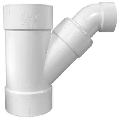 12 in. x 12 in. x 4 in. PVC DWV Combination Wye and Eighth Bend (2-Piece)