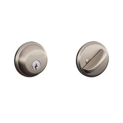 Satin Nickel Single Cylinder Deadbolt (2-Pack)
