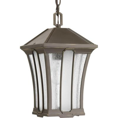 Twain Collection 1-Light Outdoor Antique Bronze Hanging Lantern