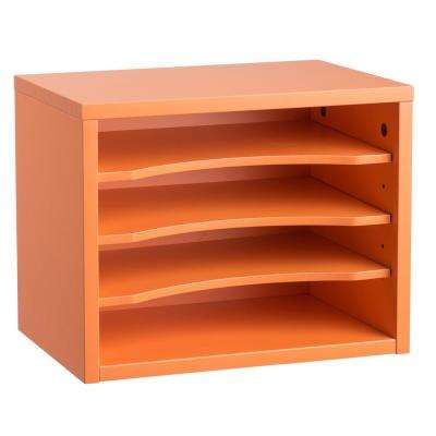 Stackable Desk Organizer with Removable Shelves, Orange