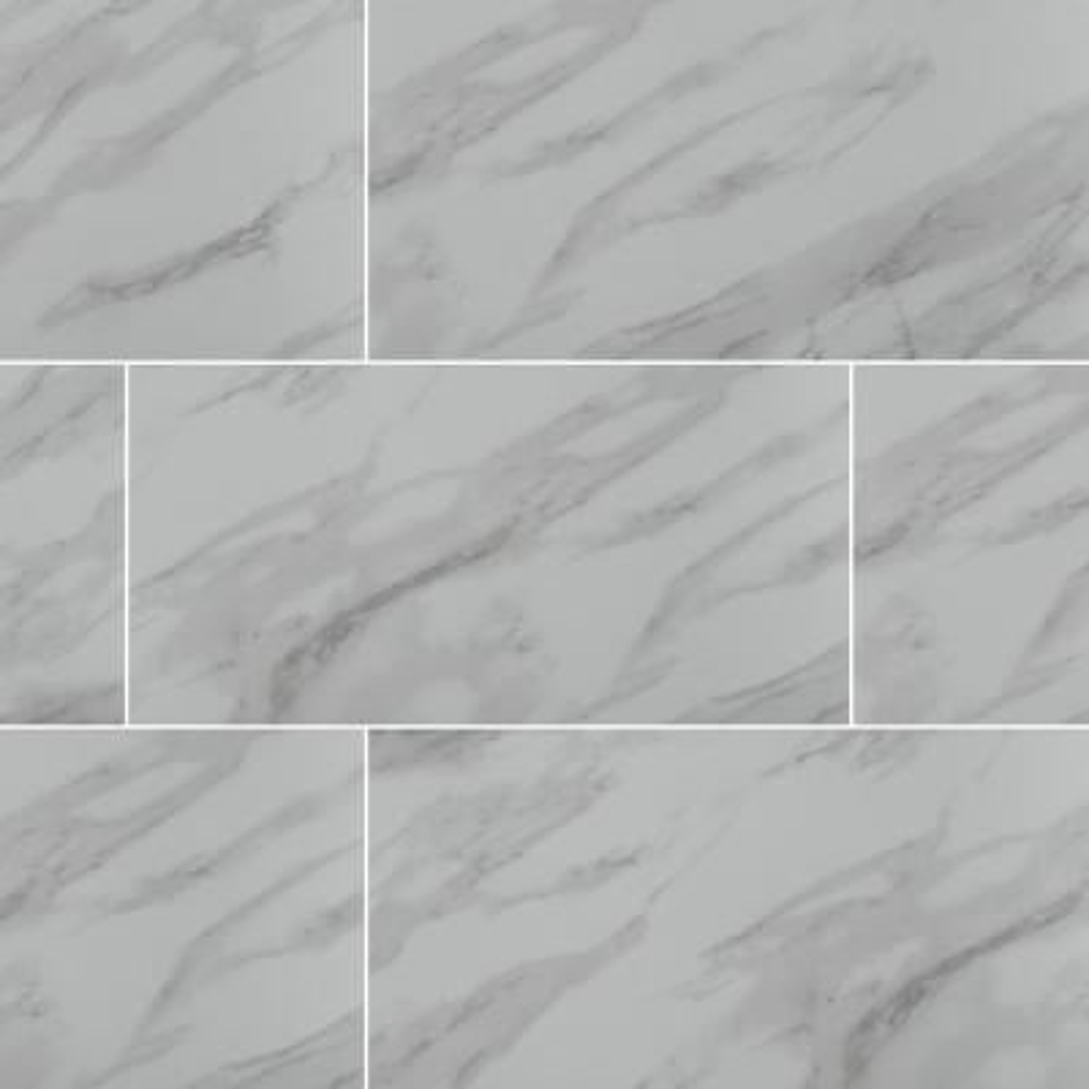 Take Home Tile Sample - Aspen Gris 12 in. x 24 in. Glazed Ceramic Floor and Wall Tile - 4 in. x 4 in