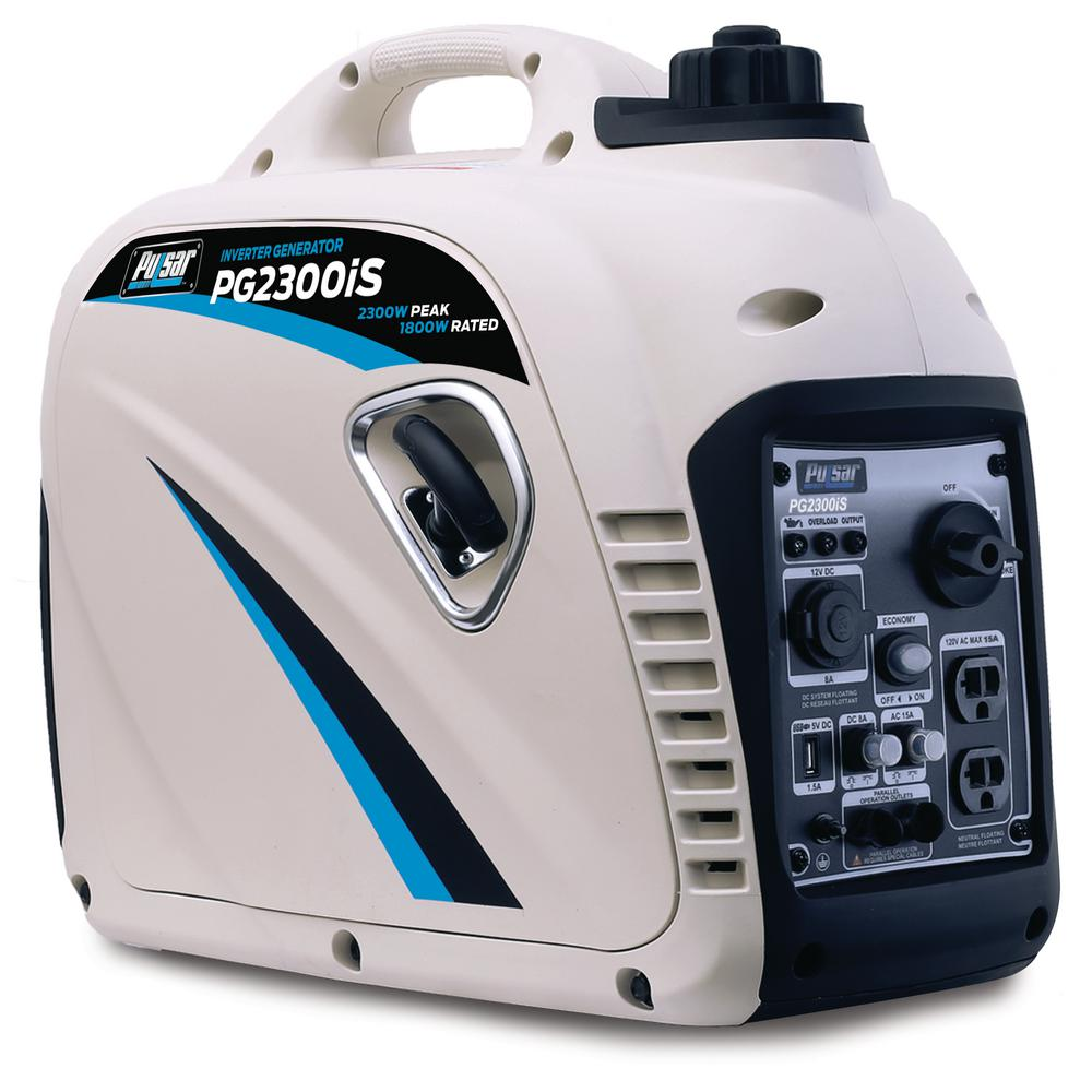 Pulsar 2,300-Watt/1,800-Watt Gasoline Powered Recoil Start Inverter Generator with CARB Compliant 80cc Ducar Engine