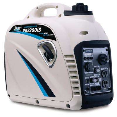 2,300-Watt/1,800-Watt Gasoline Powered Recoil Start Inverter Generator with CARB Compliant 80cc Ducar Engine