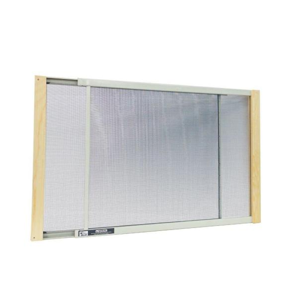 21 - 37 in. W x 15 in. H Clear Wood Frame Adjustable Window Screen