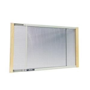 window screen frame w b marvin 21 37 in w x 15 in h wood frame adjustable 29219