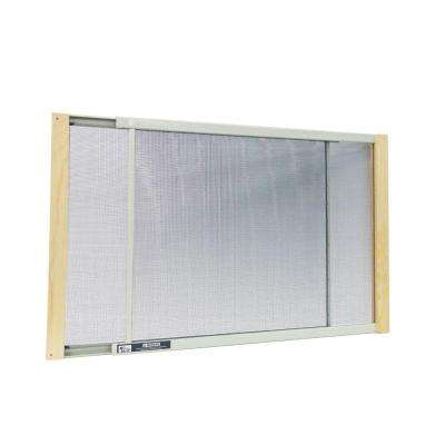 21 - 37 in. W x 15 in. H Wood Frame Adjustable Window Screen