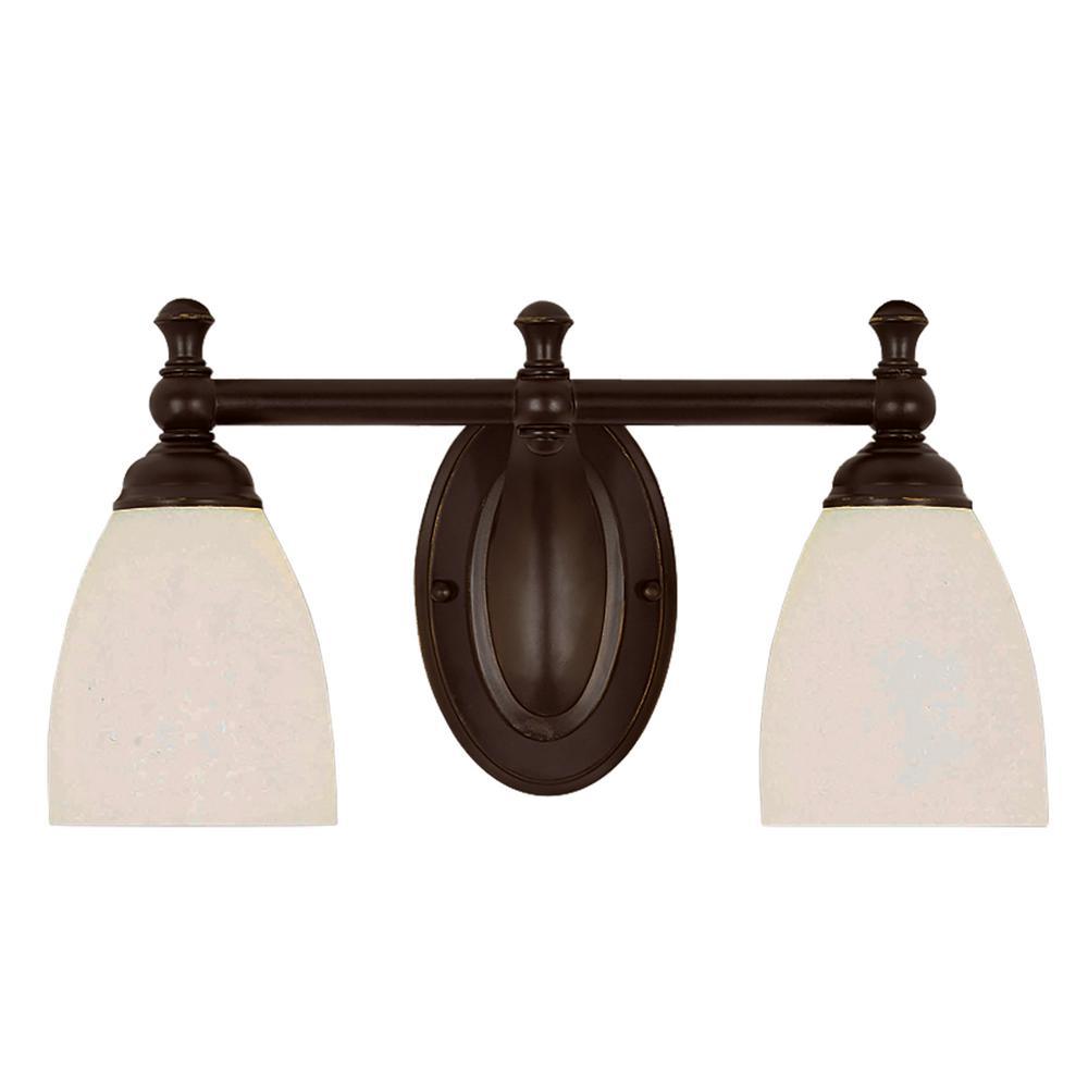 Eleanor 2-Light Rubbed Oil Bronze Bath Light