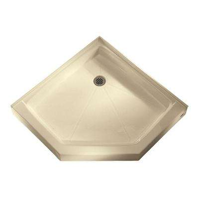 42.25 in. x 42.12 in. Neo-Angle Shower Base in Beige