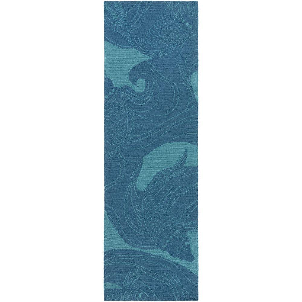 Kaweah Aqua 3 ft. x 8 ft. Indoor/Outdoor Runner Rug