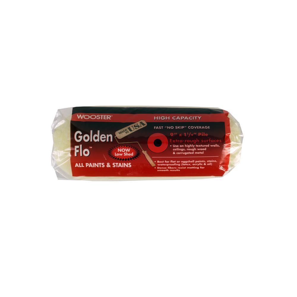 9 in. x 1-1/4 in. Golden Flo Medium-Density Fabric Roller Cover