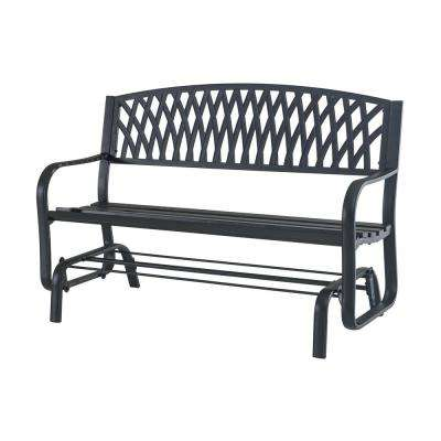 Flintridge Black Outdoor Patio Glider
