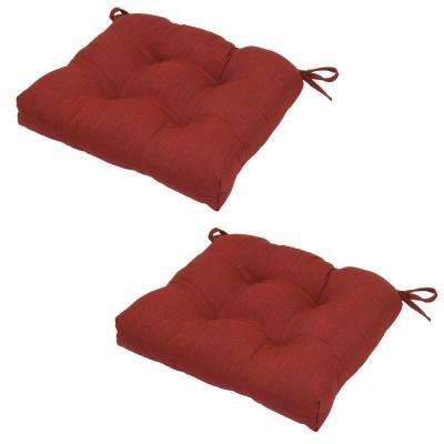 19 x 18 Outdoor Chair Cushion in Standard Chili (2-Pack)