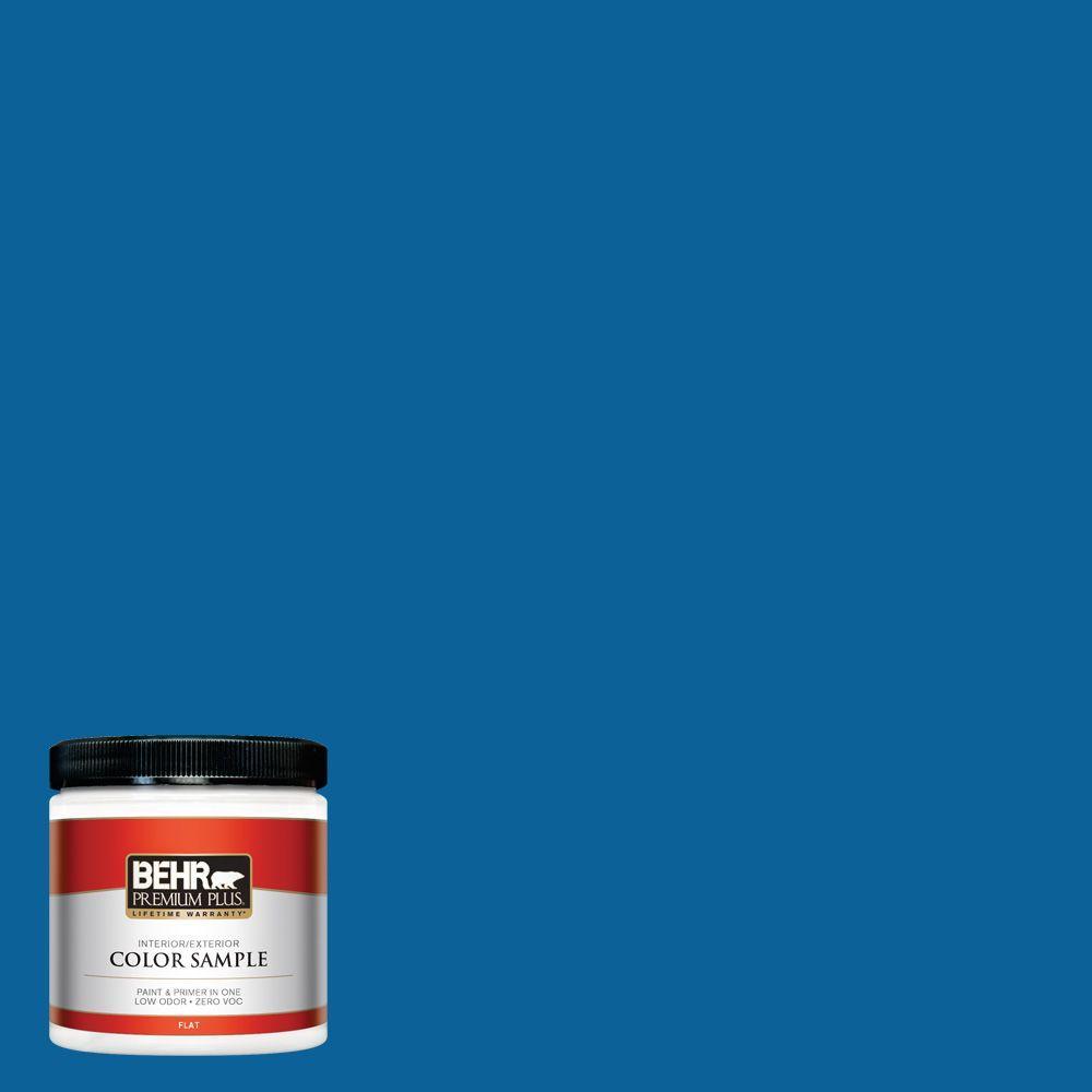 BEHR Premium Plus 8 oz. #570B-7 Cobalt Glaze Interior/Exterior Paint Sample