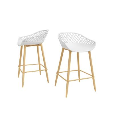 26 in. Kurv White Counter Stool (Set of 2)