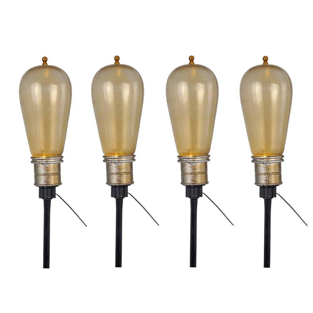 15-6/8 in. Bulb Pathway Markers with LED Illumination (Set of 4)
