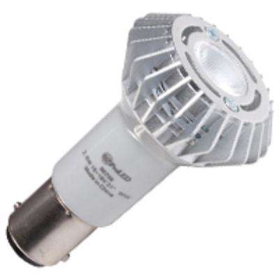 20-Watt Equivalent 2.6-Watt R12 Non-Dimmable Elevator LED Flood 30 Degree 10-18V Light Bulb Ba15d Warm White 2700K 80756