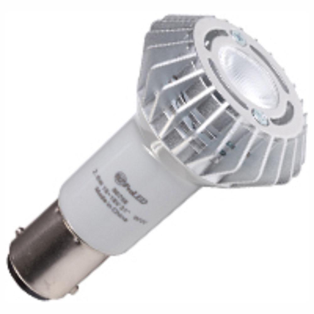 20-Watt Equivalent 2.6-Watt R12 Non-Dimmable Elevator LED Flood 30 Degree 10-18V Light Bulb Ba15d Warm White 2700K 80756