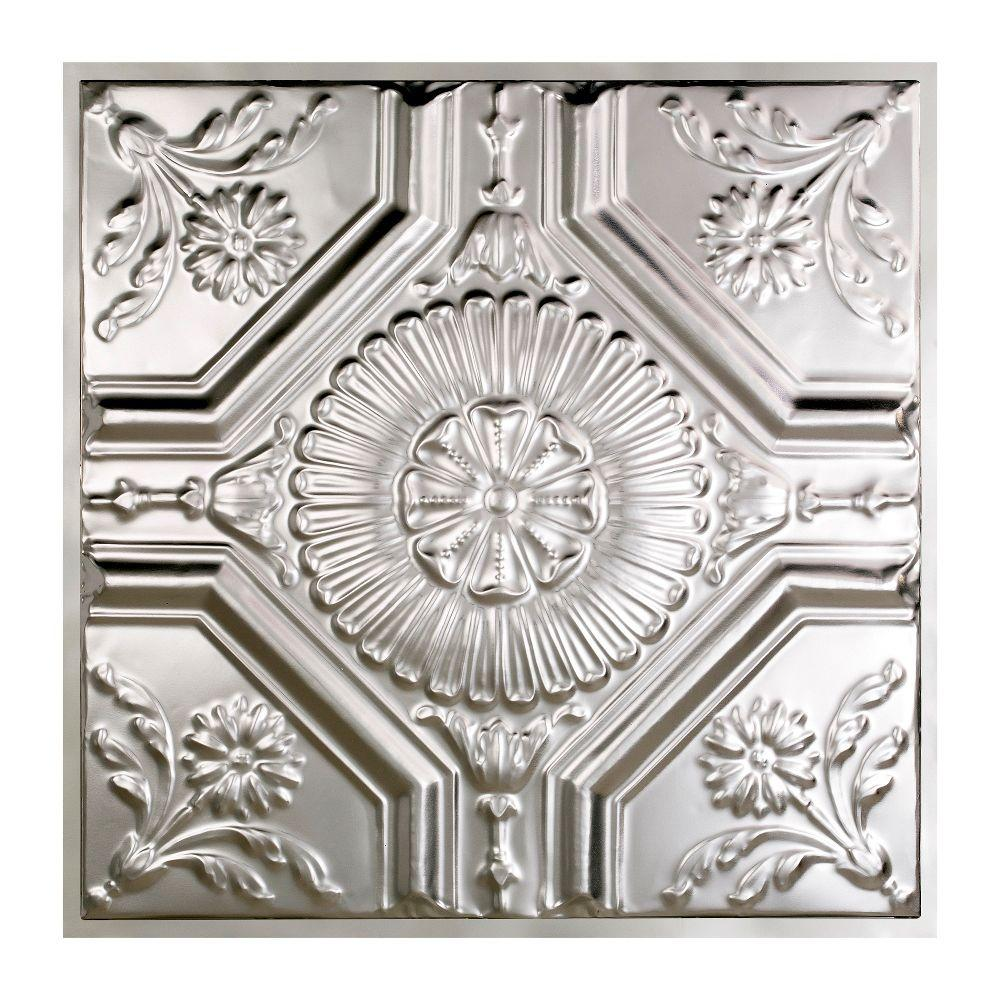 Great Lakes Tin Rochester 2 ft. x 2 ft. Lay-in Tin Ceiling Tile in Clear