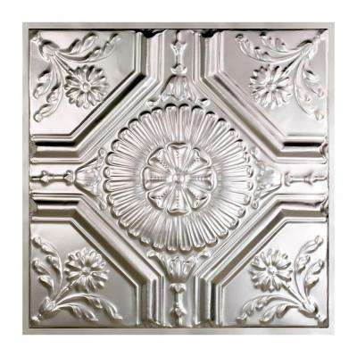 Rochester 2 ft. x 2 ft. Lay-in Tin Ceiling Tile in Clear
