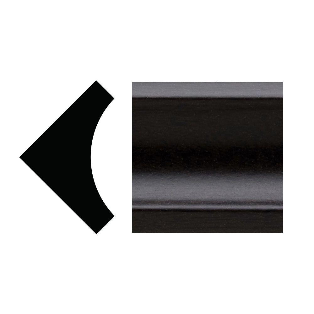 5093 - 5/16 in. x 1 in. x 96 in. PVC Composite Espresso Inside Corner Moulding