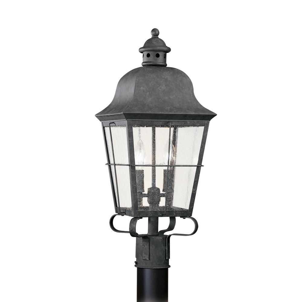 Chatham 2-Light Outdoor Oxidized Bronze Post Light