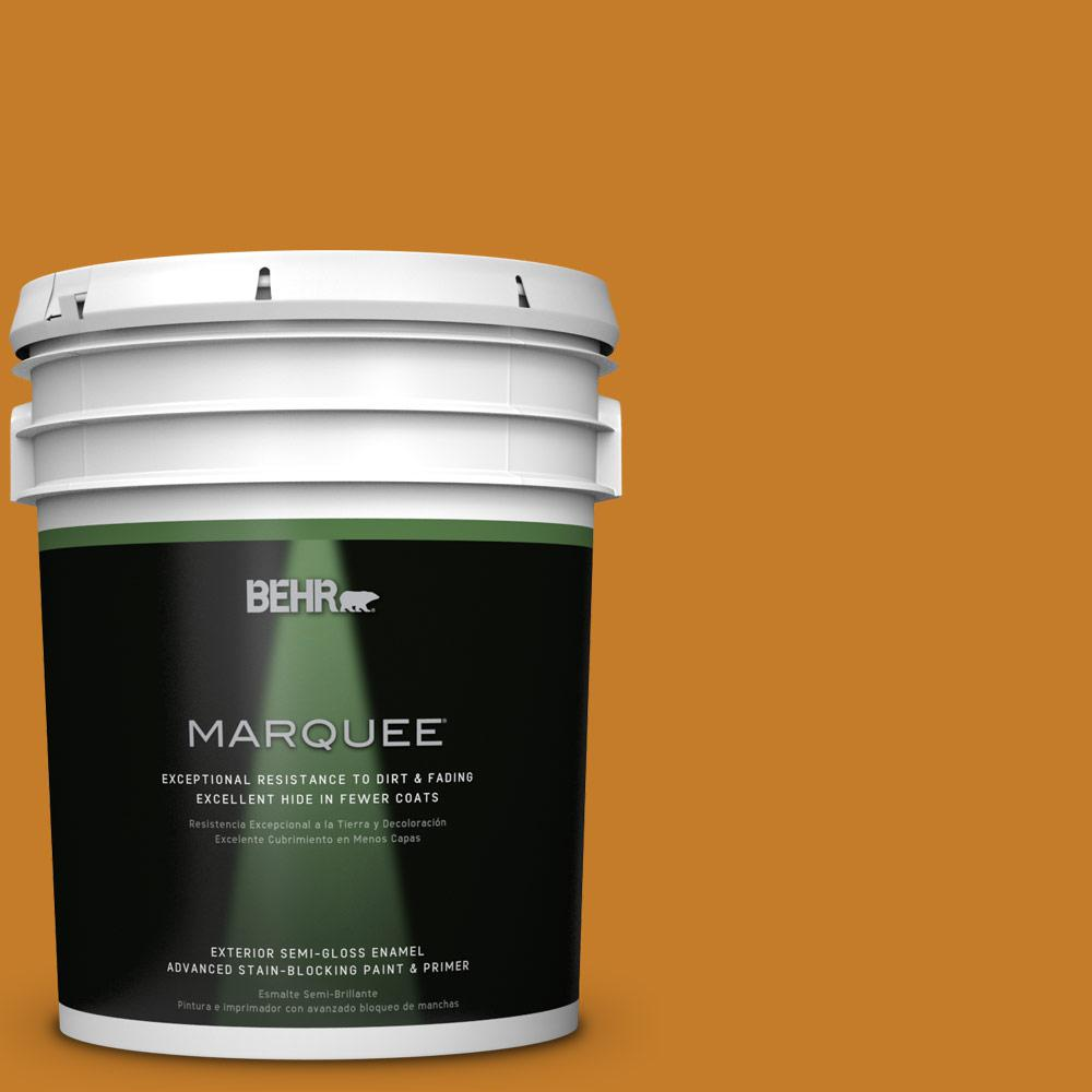 BEHR MARQUEE 5-gal. #S-H-290 Exotic Honey Semi-Gloss Enamel Exterior Paint
